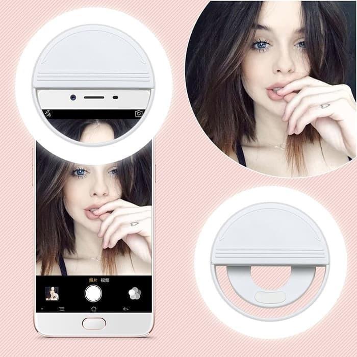 Foto Produk Lampu Ring Light Selfie LED Putih Smartphone dari Tablet PC Mall