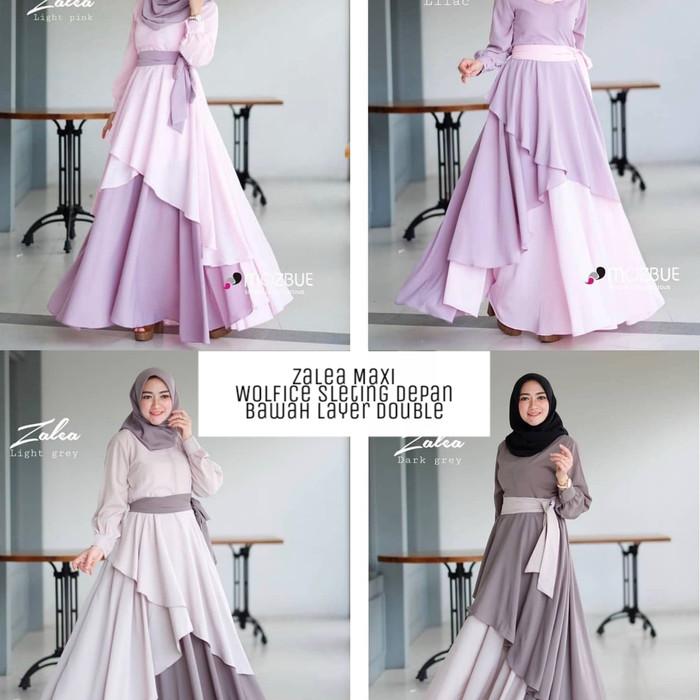 Grosir Dress murah   Gamis busui   Baju Muslim wanita baru  Zalea maxi f9c5592b52