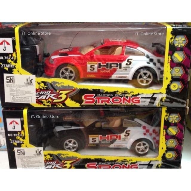 Mainan Anak Mobil Remote Radio Control RC Roadster Racing Cars Murah - Merah
