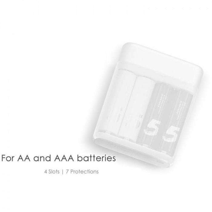 Xiaomi ZMI Zi5 Batu Baterai Cas AA 4PCS + Charging Case (ORI) - Putih