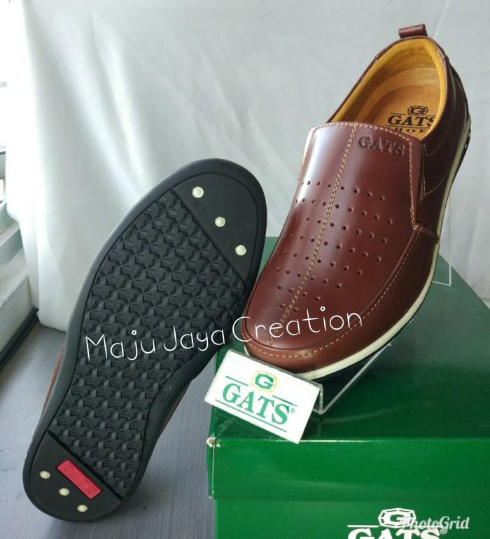 Jual Sepatu Kulit Casual Pria GATS Keren Original Murah PU 7707 ... 8454d45958