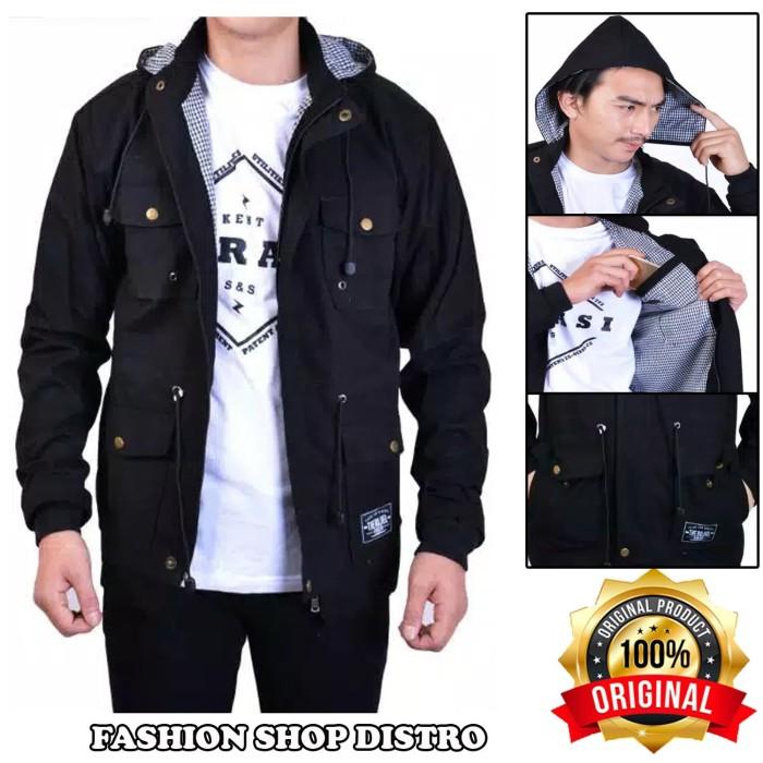 Jaket parka black original puring akrilik / jaket gunung / jaket pria
