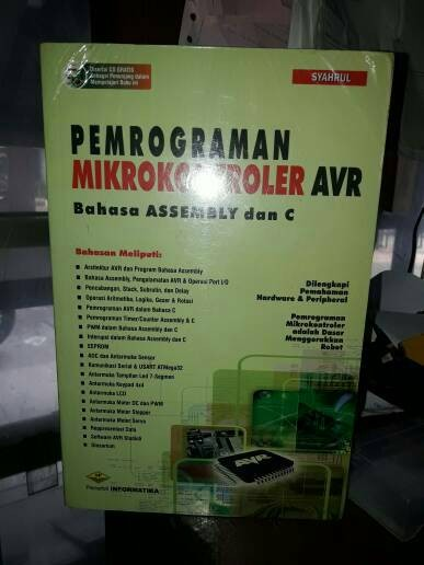 Jual Dasar Pemrograman Mikrokontroler AVR Bahasa ASSEMBLY dan C CD Tutorial  - Cahayyaku | Tokopedia