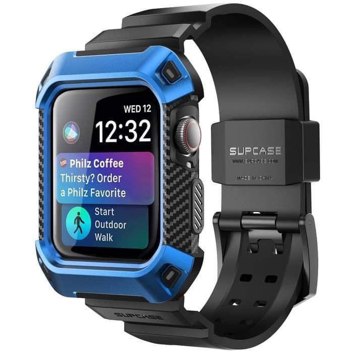 harga Supcase apple watch series 4 ub pro wristband case 44mm - blue Tokopedia.com