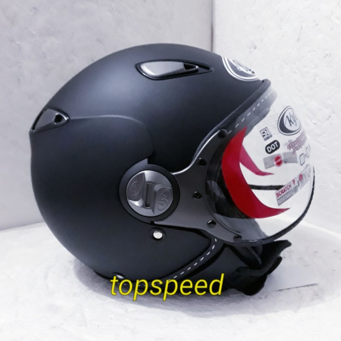 Foto Produk kyt elsico helm Kyt Elsico hitam doff dari topspeed helm surabaya