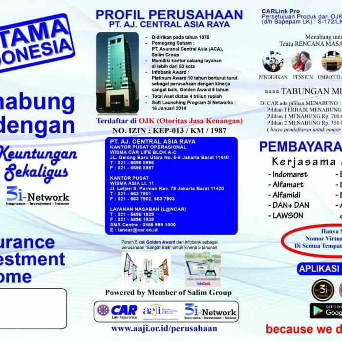 Jual Brosur Car 3i Network 1paket Biru Kota Depok Ahsanisan Tokopedia