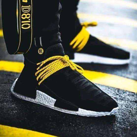 489a4f277 Jual Sepatu Casual Adidas NMD Human Race Black Yellow Premium BNIB ...