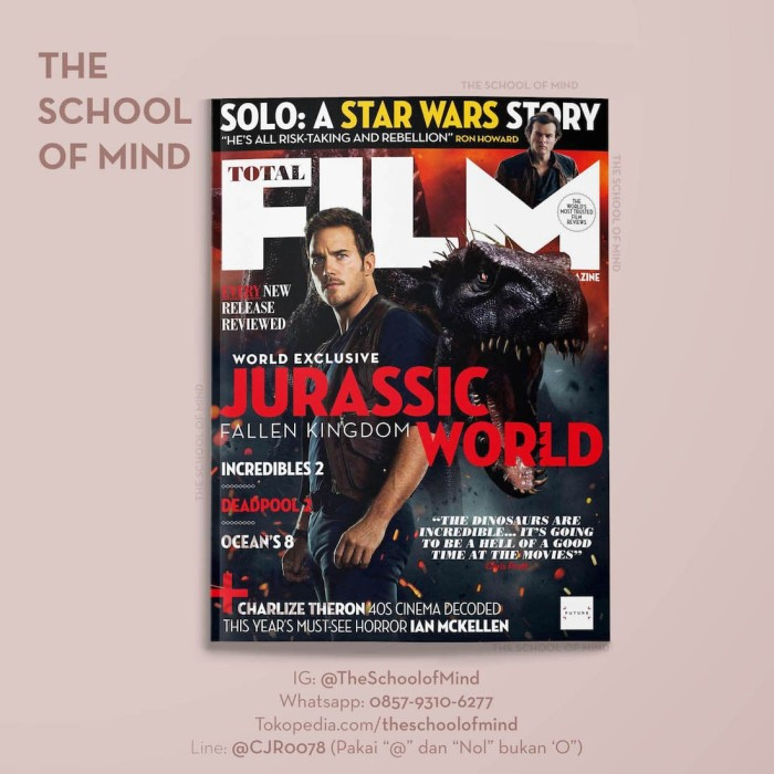 TOTAL FILM 2018 | 6 June | Majalah Jurassic World Chris Pratt Gemini