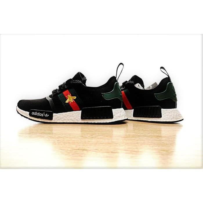 0111aef77 Jual ADIDAS NMD R1 x Bee Gucci Black High Premium Original Shoes ...