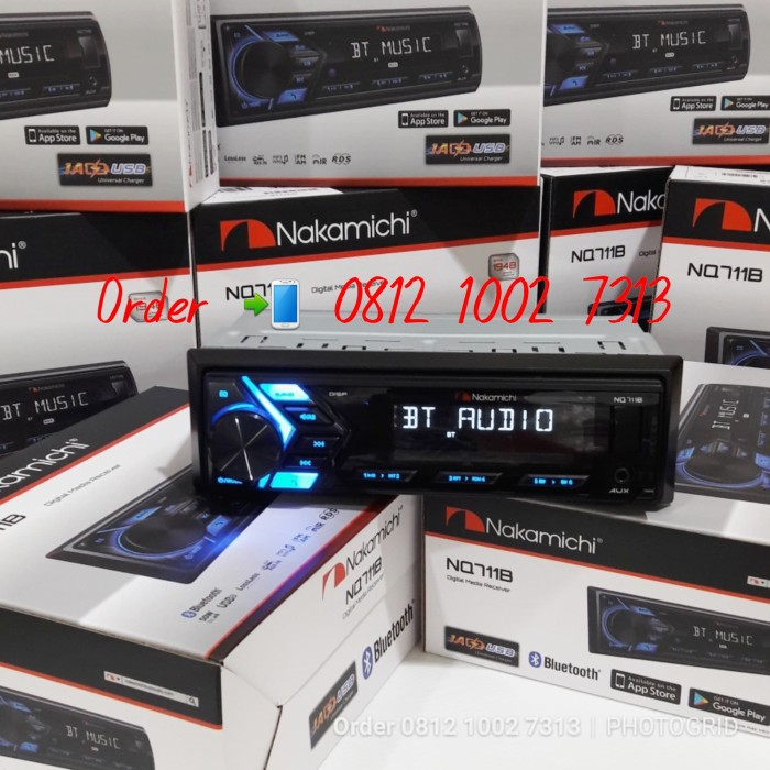 harga Tape mobil single din nakamichi head unit hu nq711b bluetooth usb Tokopedia.com