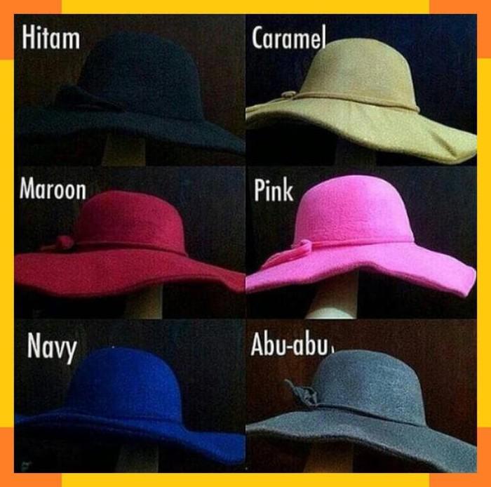 Floppy Hat Bludru Halus Original topi pantai topi wanita murah topi