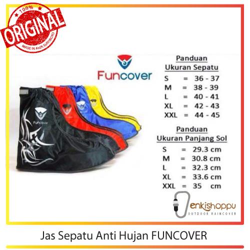 Shoes rain cover / jas sepatu anti hujan funcover produk indonesia