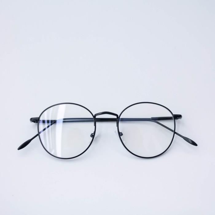 Jual Frame Kacamata Minus Besi H 6370 Oval Pria Wanita Full Hitam ... 9c898dfa80
