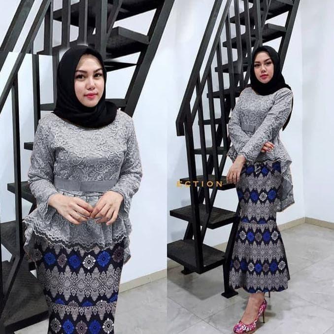 Jual Kebaya Brukat Abu Kebaya Wisuda Dan Baju Kondangan Terbaru Jakarta Pusat Prabustoree Tokopedia