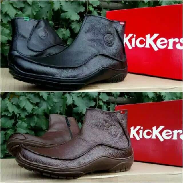Jual Sepatu Pria Sepatu Kickers Boots Resleting Original Kr079