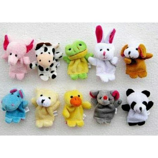 Jual Boneka Jari Tangan Hewan   Finger Puppet Animal Isi 10 Pcs ... 4753835721