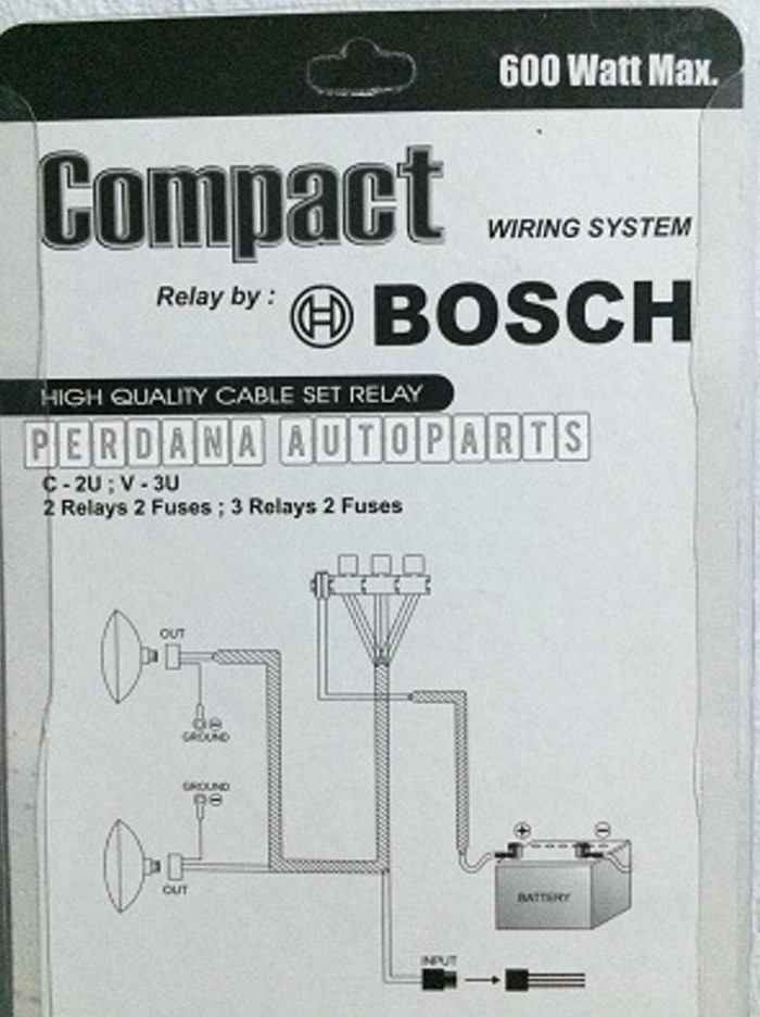 Jual Relay set BOSCH utk Lampu Mobil 3relay Original - DKI Jakarta on relay coil, relay connections, relay lights, relay switch, relay parts, relay computer,