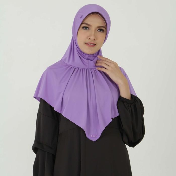 Kerudung Mezora / Jilbab / Bergo / Hijab Instan - BERGO MIMOSA - Ungu