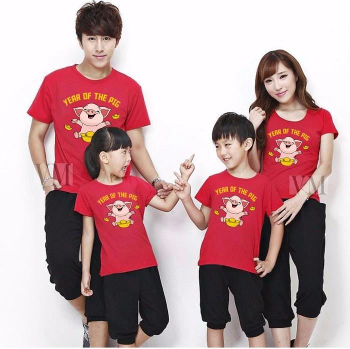 harga Vm kaos imlek kaos merah edisi imlek tahun babi 2019 family couple - merah mama Tokopedia.com