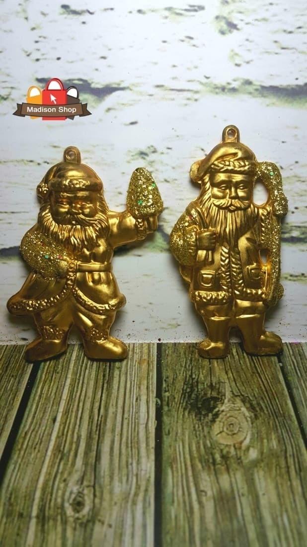 Hiasan natal/ pohon natal/ pohon natal mini santa emas hiasan natal