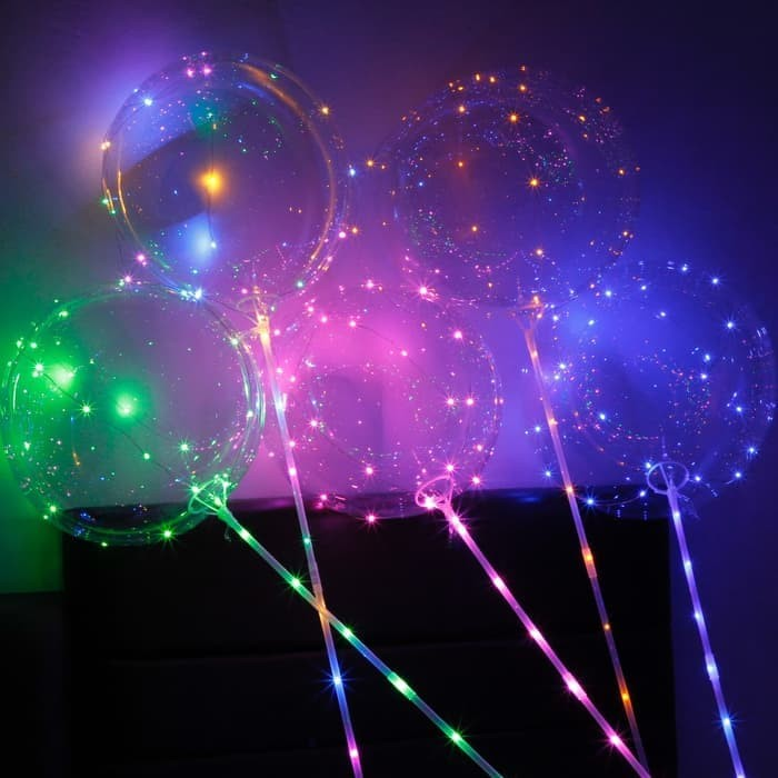 Paling Murah TIDAK PERLU HELIUM -Balon LED/ BOBO Balon/ Balon Lampu