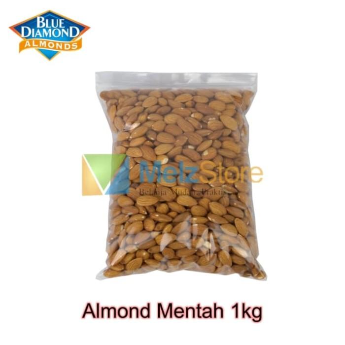 Foto Produk Kacang Almond Mentah Kupas Utuh Raw Whole Blue Diamond 1kg dari MelzCorp