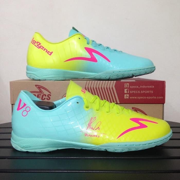 Jual Sepatu Futsal Specs Accelerator Illuzion V8 Legend Gem Blue
