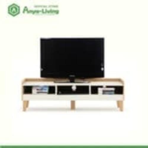 Anya-Living Lucas TV Stand White-Beech