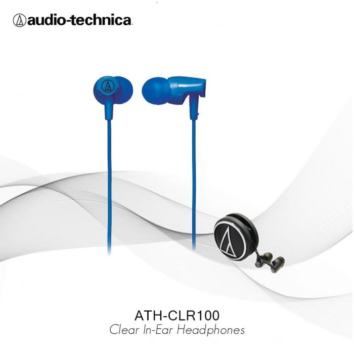 Audio-Technica ATH CLR100 BL In Ear Headphone - Biru - Biru
