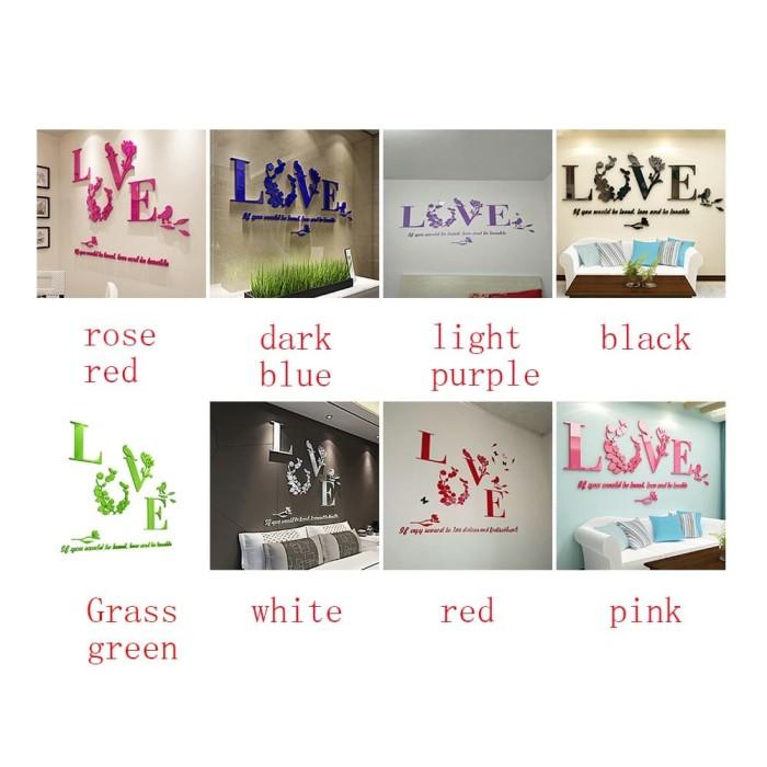 Bahan Lengkap Untuk Model Menggambar A B C D Jual Stiker Dinding Dengan Bahan Akrilik Dan Gambar Tulisan Love Jakarta Pusat Abc Store Idr Tokopedia