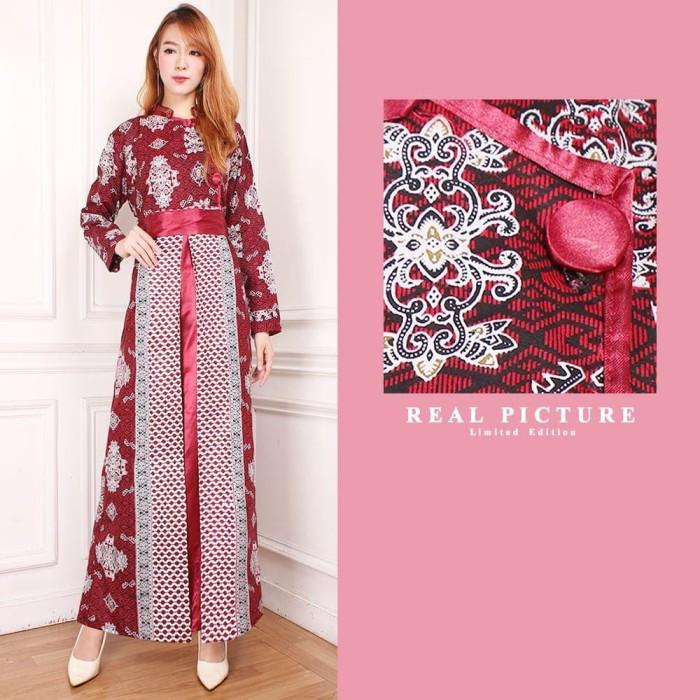 Jual Dress Panjang Baju Batik Terusan Sarinah Kota Tangerang Holy Beauty Tokopedia