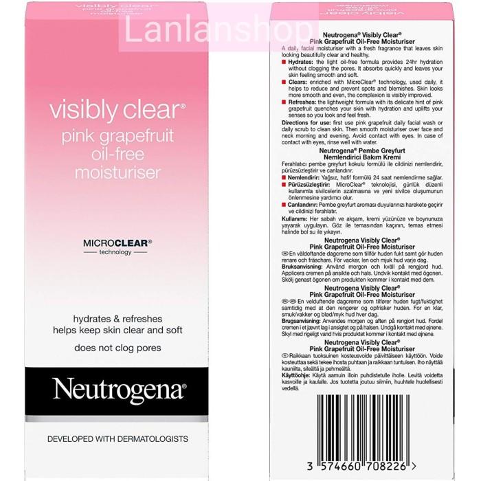 Jual Neutrogena Visibly Clear Pink Grapefruit Oil Free Moisturiser