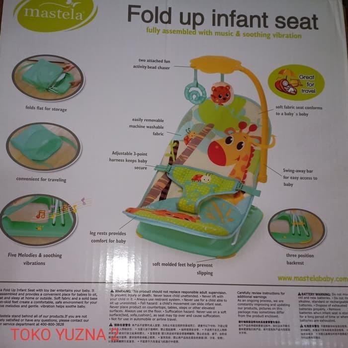 MASTELA FOLDING BOOSTER SEAT KURSI MAKAN BAYI KURSI BAYI KADO BAYI