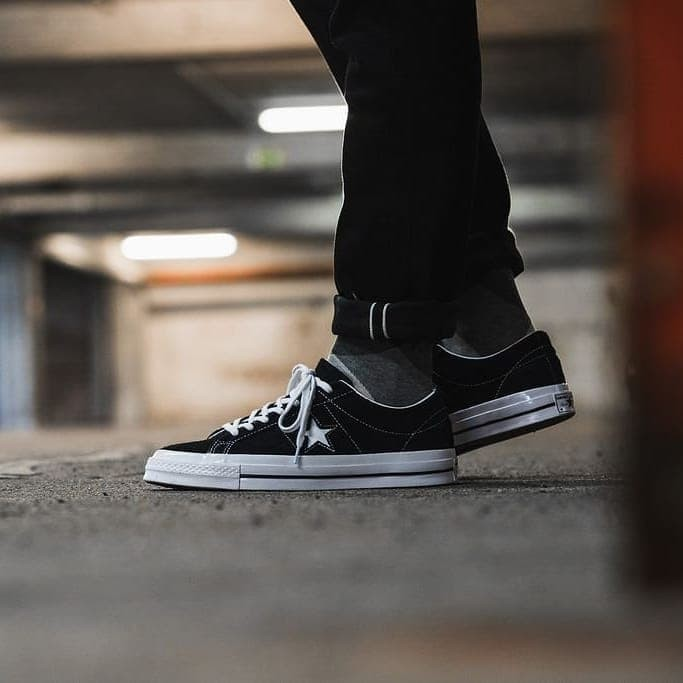 20702f54bed Jual Sepatu Converse One Star Pro Ox Suede Black White Original 100 ...