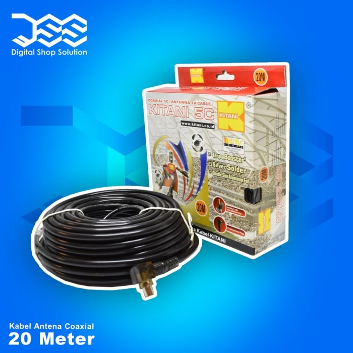 harga Kabel antena coaksial kitani 5c/rg6 ukuran 20m Tokopedia.com