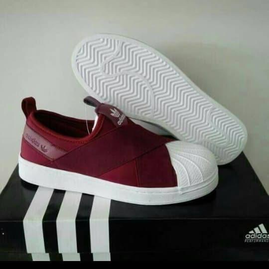 wholesale dealer f60e3 46966 Jual Adidas Superstar Slip On Maroon White Import Quality /sepatu adidas -  DKI Jakarta - SneakVolution | Tokopedia