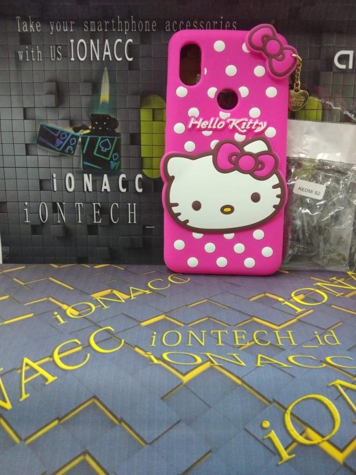 harga 3d case cute hello kitty polkadot premium softcase xiaomi redmi s2 new Tokopedia.com