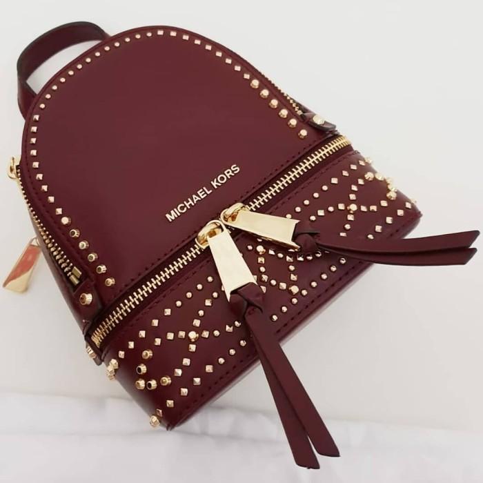 af173782be48 Jual Tas Michael Kors MK Rhea mini studded leather bp/slingbag ...