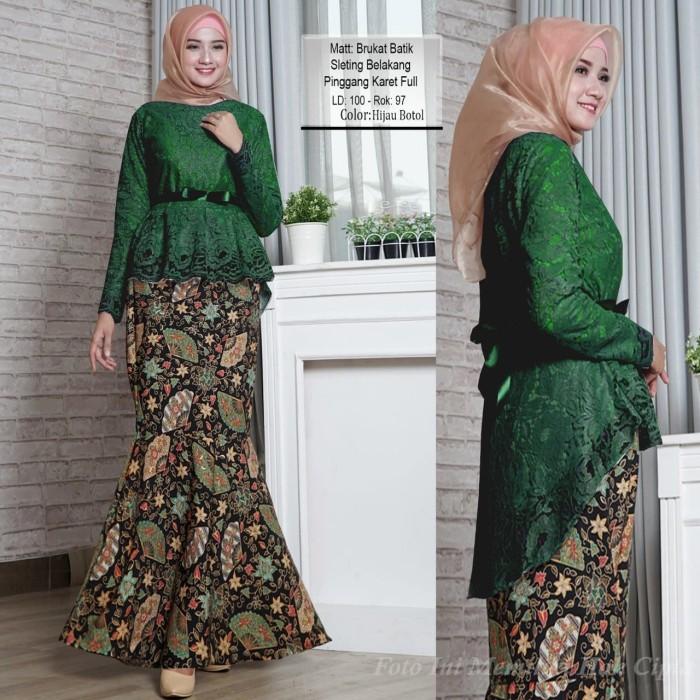 Jual Baju Kebaya Modern Kebaya Batik Muslim Warna Green Kebaya Pesta Ori Kota Depok Al Fatih Shop Tokopedia