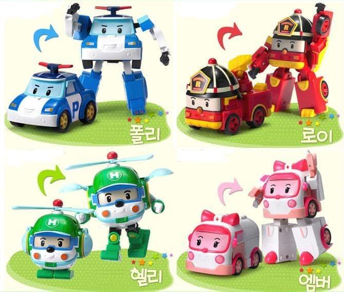 Robocar Poli Transform 1 Set / Mainan Figure Poli Murah