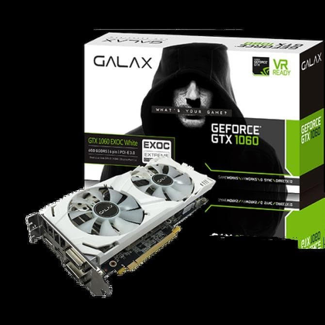 Jual VGA GALAX GEFORCE GTX 1060 6GB DDR5 EXOC (EXTREME OVERCLOCK) WHITE -  DKI Jakarta - Bleesing Komputer | Tokopedia
