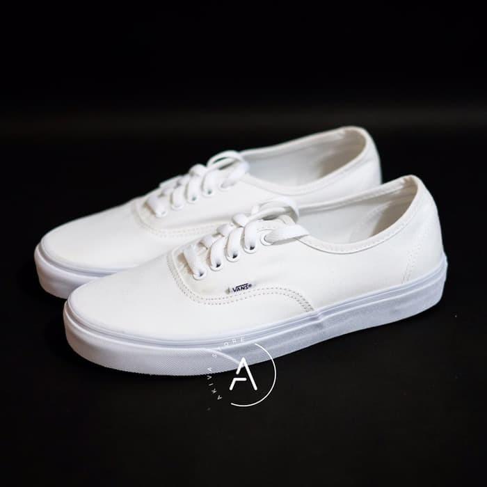 vans authentic full white original
