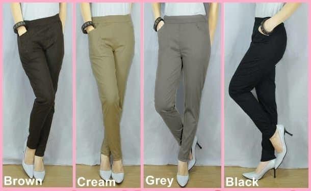 Jual Celana Katun Stretch Celana Legging Leging Celana Kantor Wanita Kab Pekalongan Cm Celana Murah Tokopedia