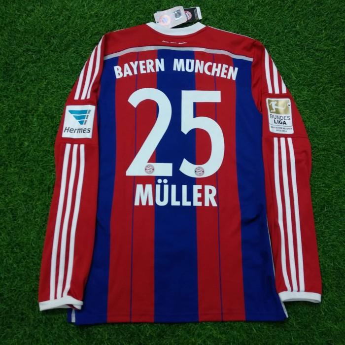online store 4d212 aeccc Jual Original Jersey Bayern Munich 2014-15 Home Muller Baju Bola Asli -  Jakarta Pusat - Jakarta Football Shop | Tokopedia
