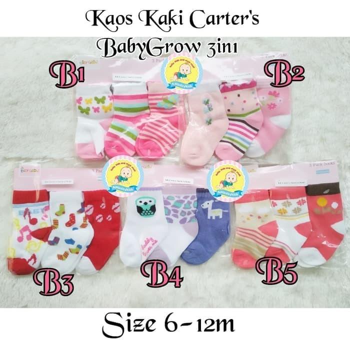Bagus Kaos Kaki Bayi Carter / Carters Baby Grow 3in1 - BacaDe