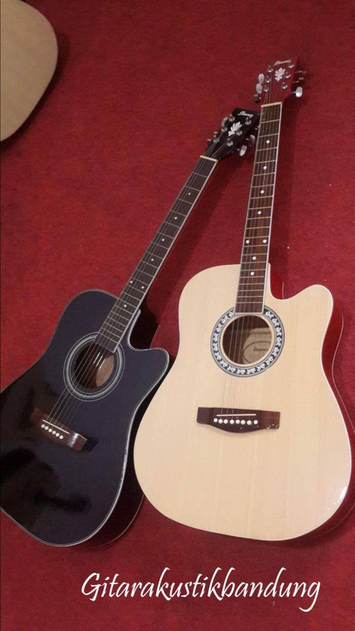 harga Gitar akustik jumbo murah bandung bisa gosend aman ready trussrod Tokopedia.com