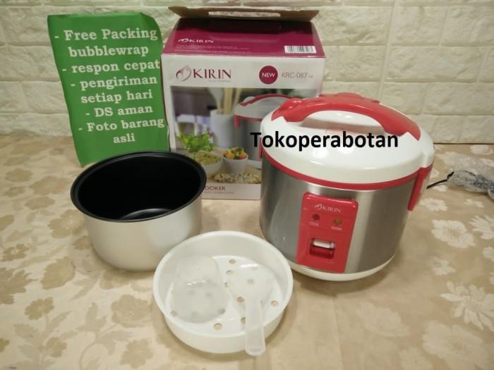 Magic Com Stainless Kirin 1ltr KRC 087 (3in1) / Rice Cooker - Merah