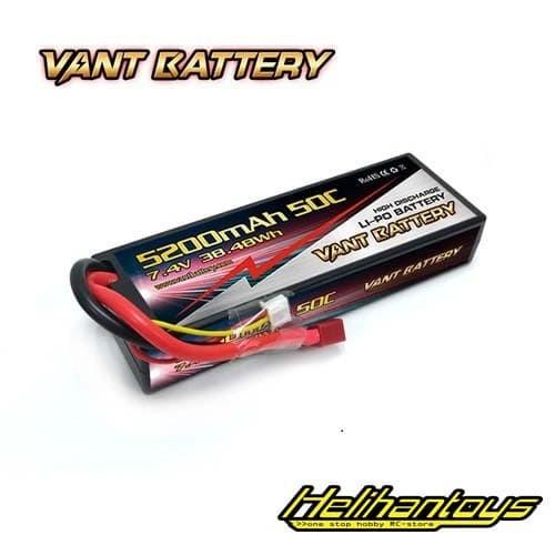 Foto Produk Vant 5200mAh 7.4V 50C Hard Case Battery LiPo - Vant5200-2S-50C dari Helihantoys