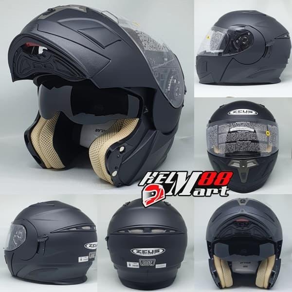 harga Helm zeus modular zs-3020 black matte helm zeus flip up zeus 3020 Tokopedia.com