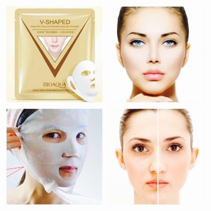 Bioaqua V-Shaped sheet Mask / masker muka tirus V shaped 40g